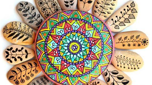 taş boyama sanatı