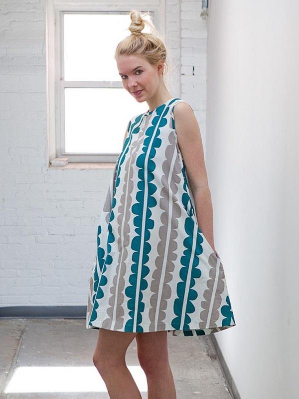 trapez elbise modeli
